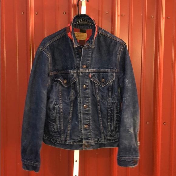 Levi's |Vintage Trucker Denim Jacket Buffalo Plaid